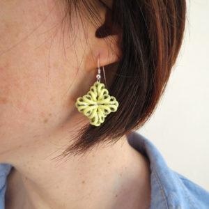 Boucles d'oreilles Fleuron