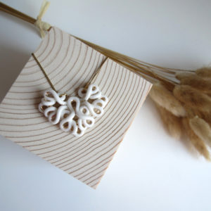 Collier Foliole gold/silver