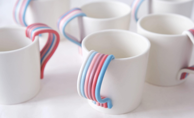 Tasses Weaving - Porcelaine - Lucie Ollivier